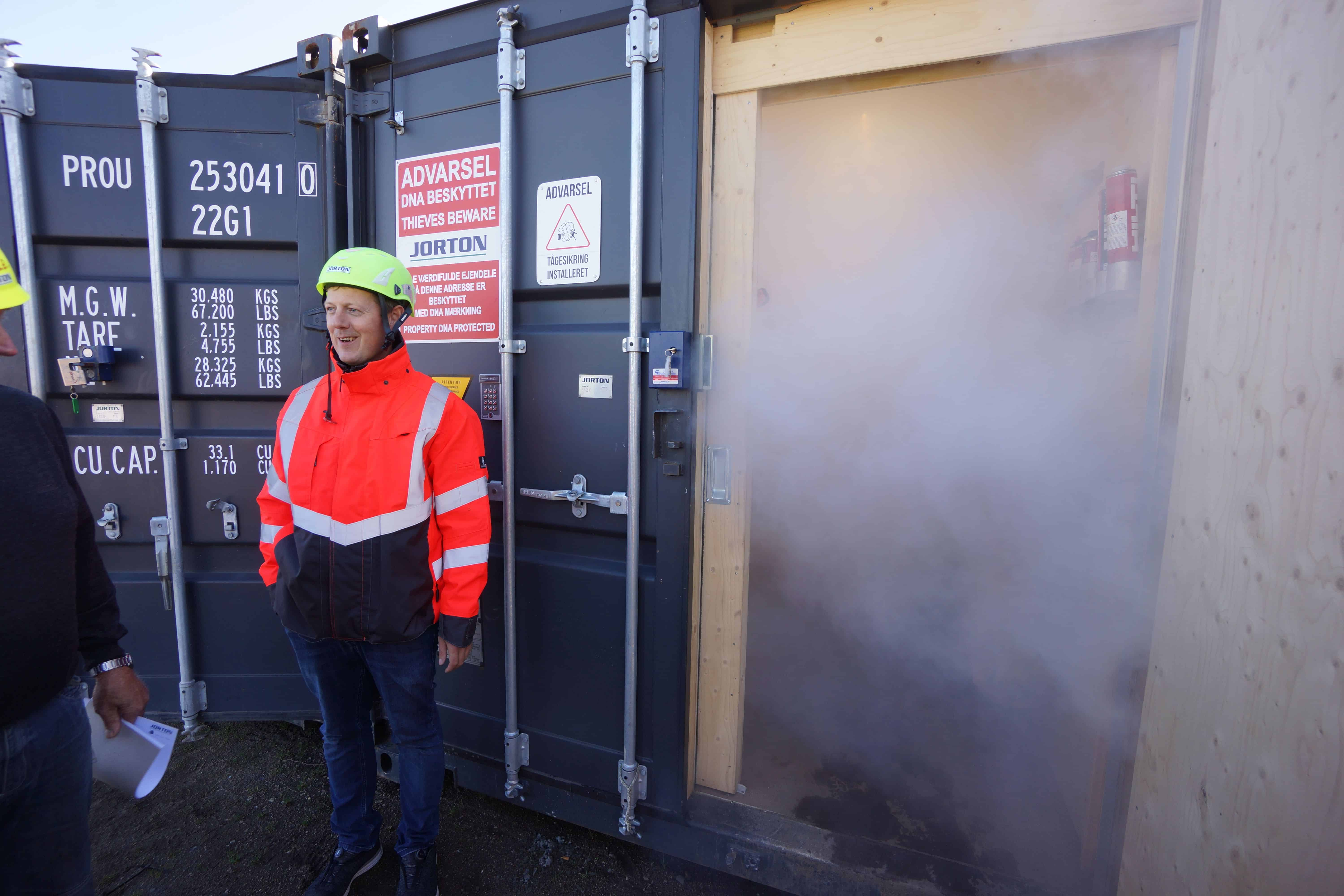 Security fog, GPS, shaking sensors and sirens now secure the building site's values